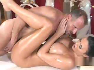 brunette blowjob massage